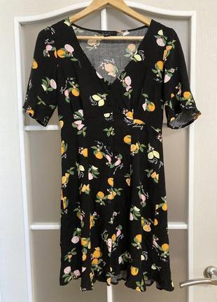 Платье amisu с лимонами