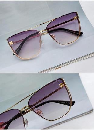 Солнцезащитные очки в сиреневом цвете