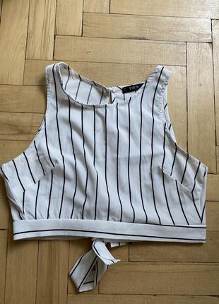 Стильный укорочённый топ майка блуза