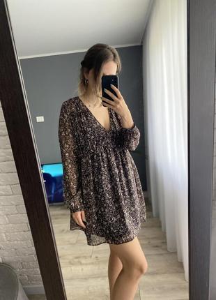 Шифоновое летние платье zara