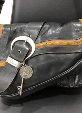 Authentic christian dior gaucho saddle bag. легендарная сумка dior, оригинал