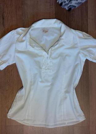 Белая рубашка винтаж