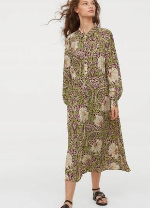 Стильне плаття в принт william morris & co x h&m платье рубашка сорочка миди