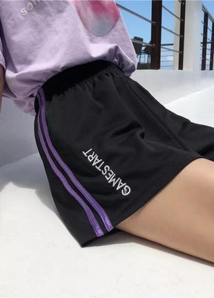 Летние свободные шорты с высокой талией