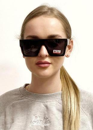 Сонцезахисні окуляри-маска чорні к. 2228
