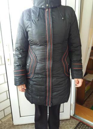 Зимнее пальто на холлофайбере с шиншилой