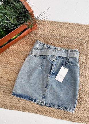 Новая джинсовая юбка в винтажном стиле винтаж zara высокая посадка