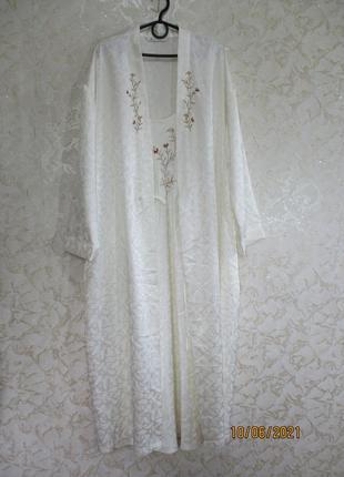 Шикарный комплект  длинная ночнушка с халатом/комплект домашний