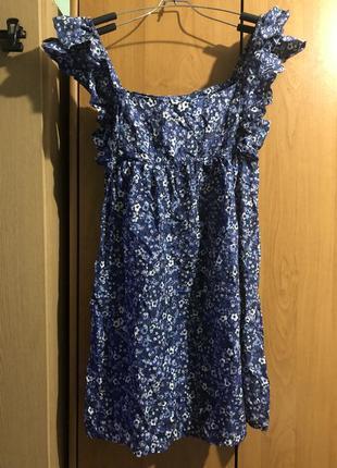 Шелковое платье в красивый цветочек, шелковый сарафан