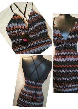 Коктейльное платье с люрексом edge clothink