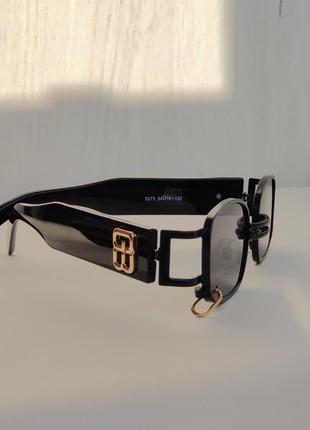 Солнцезащитные очки прямоугольной формы, черные