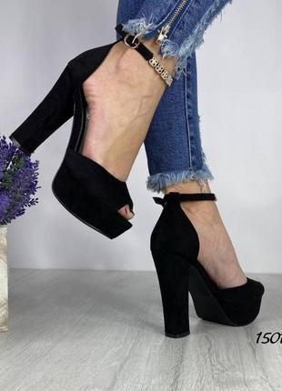Босоножки на каблуке и платформе