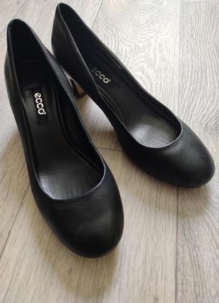 Фирменные туфли ecco! 💯 кожа!