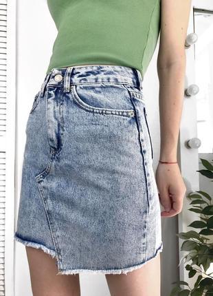 Юбка джинсовая голубая варка xray
