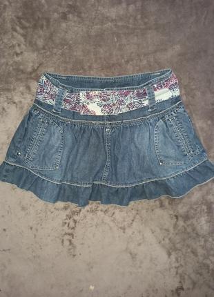 Джинсовая юбка мини юбка