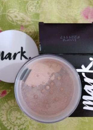 Пудра рассыпчатая avon mark минеральная mineral powder spf 15