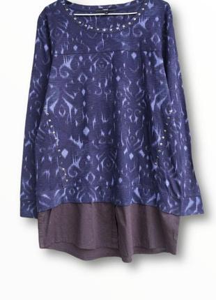 Стильная блузка,кофточка двойка из натуральной ткани next