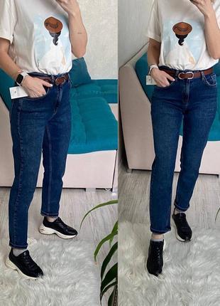 Сині джинси мом, синие джинсы женские mom