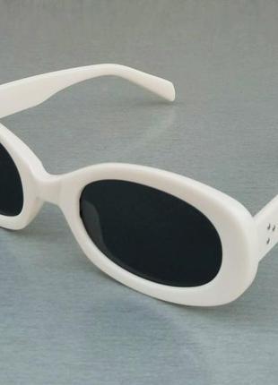 Celine очки женские солнцезащитные овальные узкие модные белые