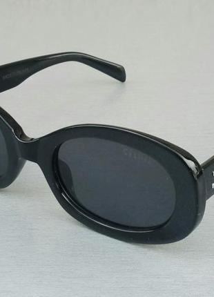 Celine очки женские солнцезащитные черные узкие модные овальные