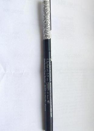 Водостойкий карандаш для контура глаз черный ив роше yves rocher