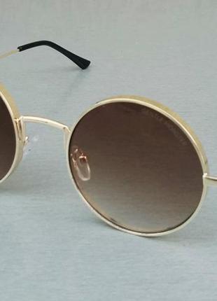 Gentle monster очки женские солнцезащитные круглые коричневые с градиентом в золоте