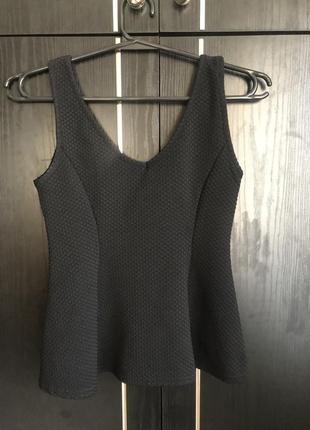Черный топ майка футболка блуза кофта топик