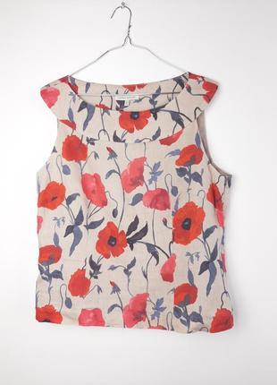 Льняная майка / блузка на подкладке