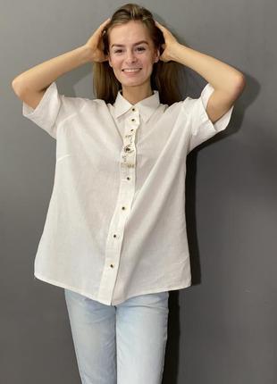 Винтадная рубашка/блуза лен/хлопок вышивка vintage retro
