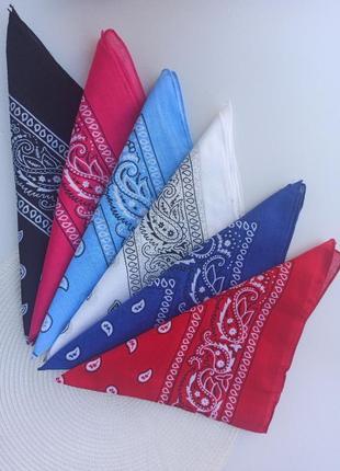 Бандана на голову косинка платок