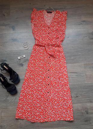 Платье миди на пуговицах. плаття міді