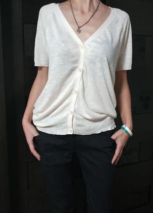 Жіноча блузка max studio р.36,38 maxmara оригинал льон лен натуральна