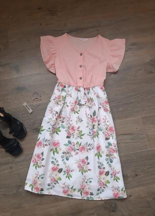 Комбинированое платье. плаття