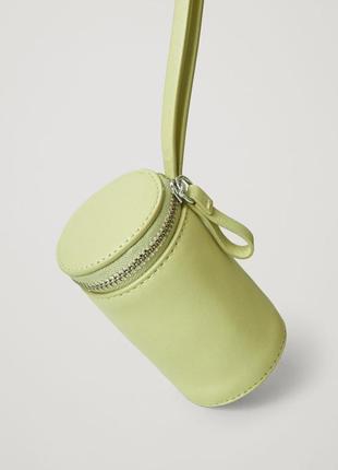 Кожаная мини сумочка цилиндр cos