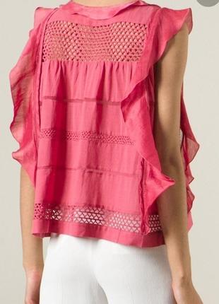 Топ блуза  isabel marant clara blouse оригинал лен шелк хлопок