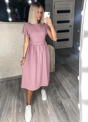 Платье миди норма и батал
