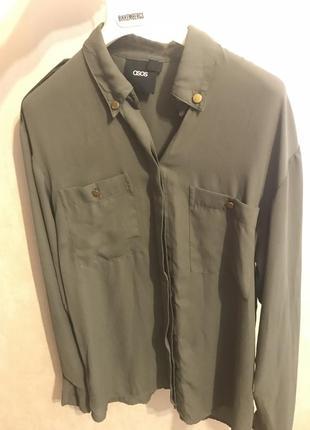 Рубашка-блуза asos хаки