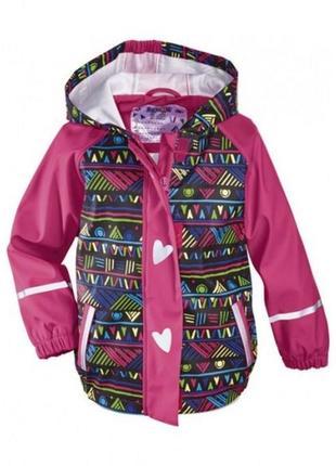 Резиновый дождевик куртка на девочку lupilu