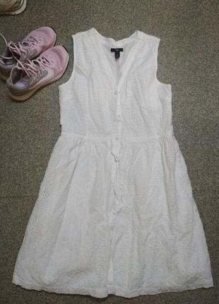 Белое платье. gap.