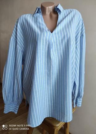 Свободная хлопковая блуза, рубашка