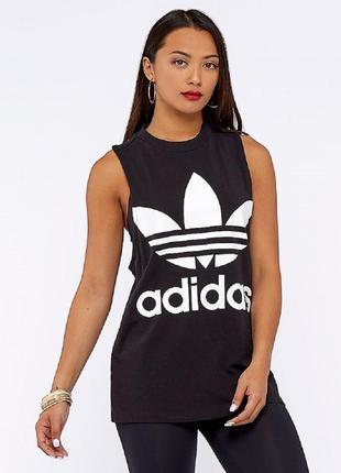 Женская майка (футболка без рукавов) adidas originals trefoil tank