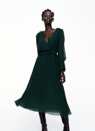 Роскошное платье изумруд оригинал вечернее платье плаття zara