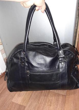 Кожаная большая сумка tommy and kade