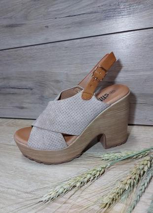 Босоножки на платформе 🌿 на танкетке  сандалии классика
