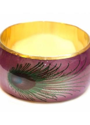 Красивый браслет с латунью павлинье перо №4 индия