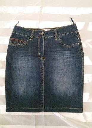 Юбка синий джинс