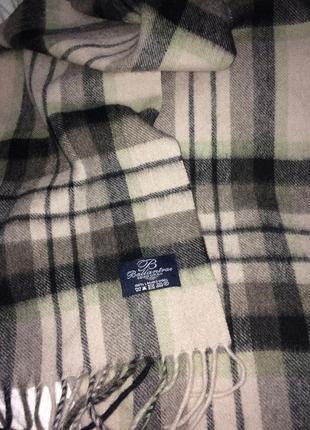 Ballantrae edinburgh  клетчатый стильный шарф натуральная шерсть