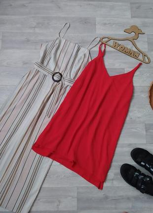 Красное платье на бретелях от topshop