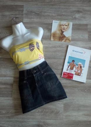 Джинсовая стрейчивая винтажная юбка 27 chuangba ( оригинал)