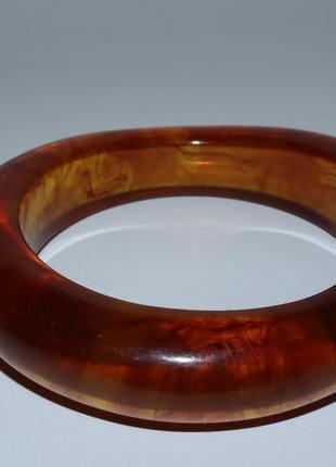 Шикарный массивный браслет под янтарь вес 54,3 грамм винтаж